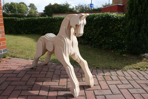 Carved Wood Rocking Horse Plans